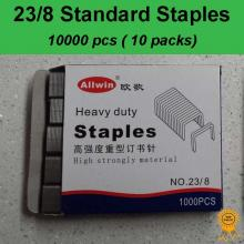 10x1000 pcs, 23/8, Standard Heavy Duty Staples, Refill School Home Office staple