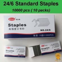 10x1000 pcs, 24/6, Standard Heavy Duty Staples, Refill School Home Office staple