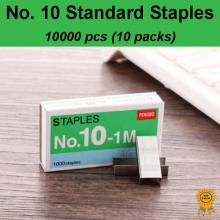 10x1000 pcs No. 10 Standard Heavy Duty Staples, Refill School Home Office staple