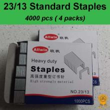 4x1000 pcs, 23/13, Standard Heavy Duty Staples, Refill School Home Office staple