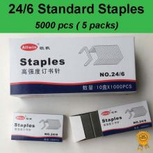 5x1000 pcs, 24/6, Standard Heavy Duty Staples, Refill School Home Office staple