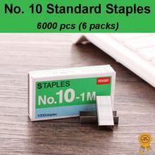 6x1000 pcs No. 10 Standard Heavy Duty Staples, Refill School Home Office staple