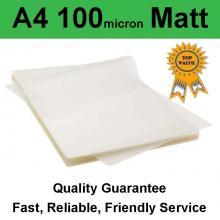 A4 Laminating Pouch Film 100 Micron Matt (PK 100)