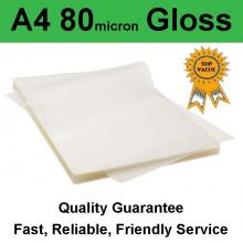 A4 Laminating Pouch 80 micron Gloss (PK 100)