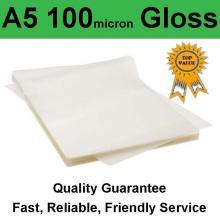 A5 Laminating Pouch Film 100 Micron Gloss (PK 100)