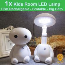 USB Rechargeable Foldable Kids Room LED Desk Lamp Night Lights - Big Hero