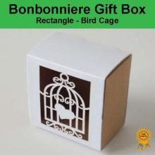 Bonbonniere Bomboniere Candy Gift Boxes - Bird Cage (60x60x38mm)