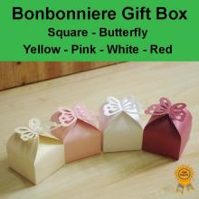 Bonbonniere Bomboniere Candy Gift Boxes - Butterfly (60x60x60mm) Free Postage