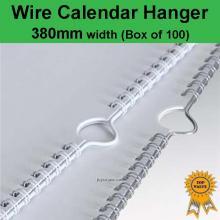 Wire Calendar Hanger 380mm (Box of 100)