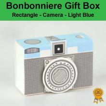 Bonbonniere Bomboniere Candy Gift Boxes Camera - Light Blue (80x55x28mm)