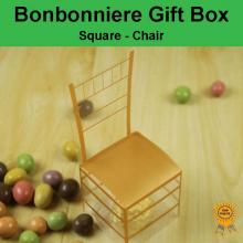 Bonbonniere Bomboniere Candy Gift Boxes Chair - Gold (53x53x132mm)