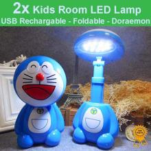 USB Rechargeable Foldable Kids Room LED Desk Lamp Night Lights - Doraemon