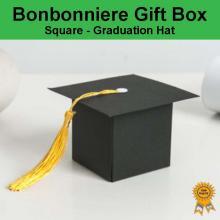 Bonbonniere Bomboniere Candy Gift Boxes - Graduation Cap (60x60x60mm)
