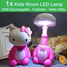 USB Rechargeable Foldable Kids Room LED Desk Lamp Night Lights -Hello Kitty