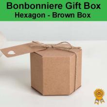 Bonbonniere Bomboniere Candy Gift Boxes - Hexagon Box (85x85x70mm)