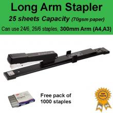 A4 A3 Long Arm Personal Office Stapler 25 sheets Capacity