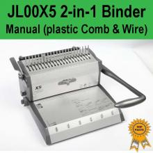 Manual 2-in-1 (Plastic Comb & Wire) Binder - JL00X5