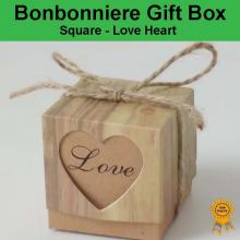 Bonbonniere Bomboniere Candy Gift Boxes - Love Heart (50x50x50mm)