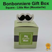 Bonbonniere Bomboniere Candy Gift Boxes - Little Man Moustache (53x53x53mm) Free Postage