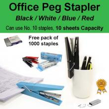 Funky Functional Paper Peg Stapler School Office Home Gift (Free 1000 staples)