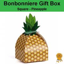 Bonbonniere Bomboniere Candy Gift Boxes -Pineapple (90x90x170mm)
