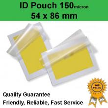ID Laminating Pouch 54mm x 86mm 150 Micron (pack of 200)