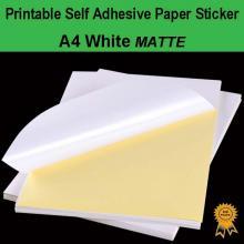 A4 Self Adhesive Paper Sticker Label Sheet Laser Inkjet Print - Matte