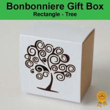 Bonbonniere Bomboniere Candy Gift Boxes - Tree (60x60x38mm)