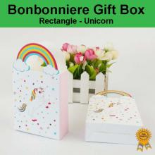 Laser Cut Wedding Bonbonniere Bomboniere Candy Gift Boxes - Unicorn