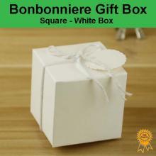 Bonbonniere Bomboniere Candy Gift Boxes - White Box (50x50x50mm)