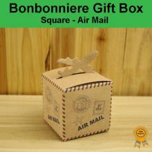 Bonbonniere Bomboniere Candy Gift Boxes - Air Mail (63x63x63mm)