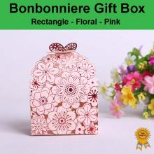 Floral Laser Cut Wedding Bonbonniere Bomboniere Candy Gift Boxes - Pink Free Postage