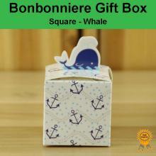 Bonbonniere Bomboniere Candy Gift Boxes - Whale (55x55x55mm)